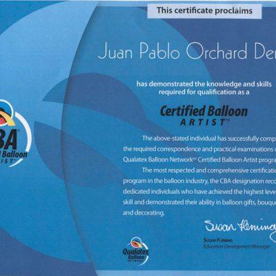 Certified Ballon Artist